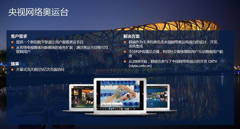 群硕开发CNTV央视网络奥运直播系统